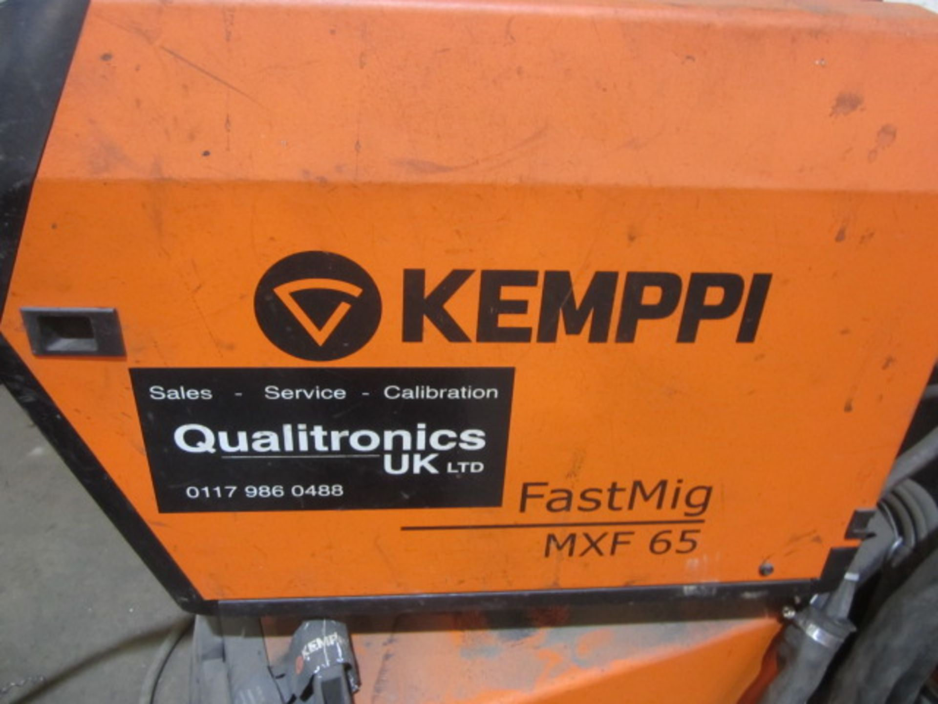 Kemppi Fast Mig M420 mig welder, serial no. 2694678, with Fast Mig MXF65 wire feeder, serial no. - Image 4 of 7