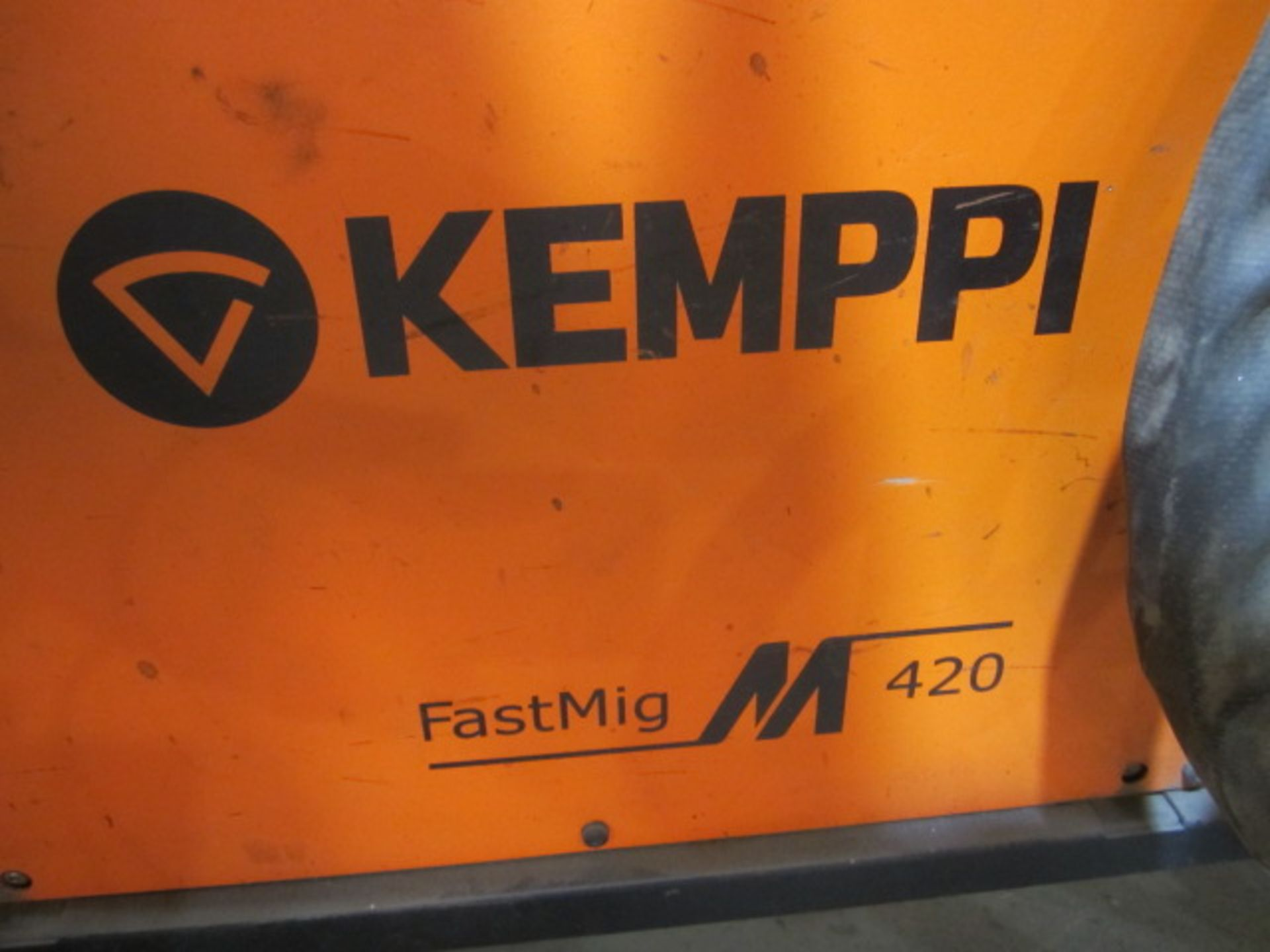 Kemppi Fast Mig M420 mig welder, serial no. 2694678, with Fast Mig MXF65 wire feeder, serial no. - Image 5 of 7