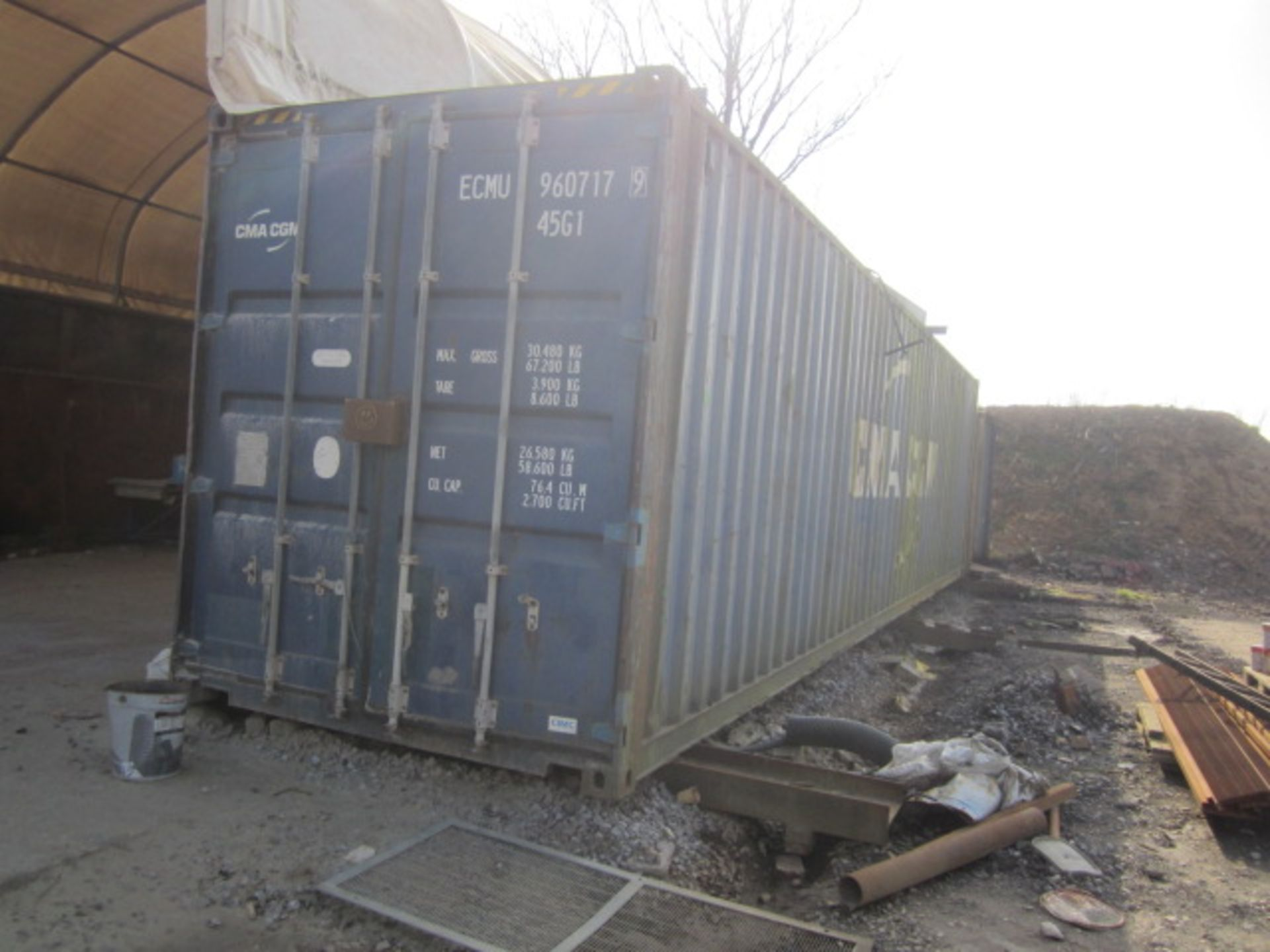 40ft export storage container, serial no. CIMC1532 2223 (2005) - Electrical disconnection required.