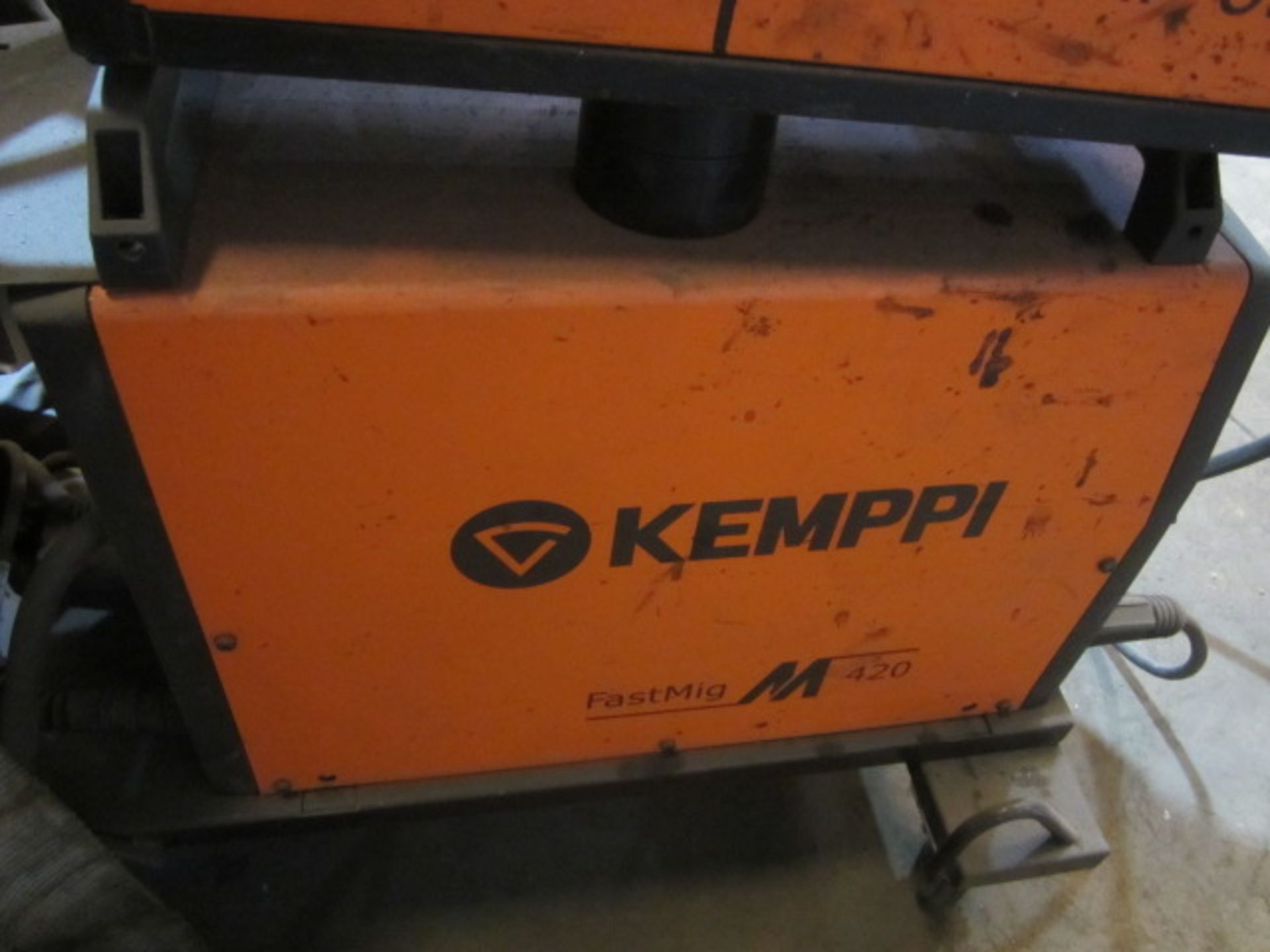 Kemppi Fast Mig M420 mig welder, serial no. 2674278, with Fast Mig MXF65 wire feeder, serial no. - Image 5 of 7