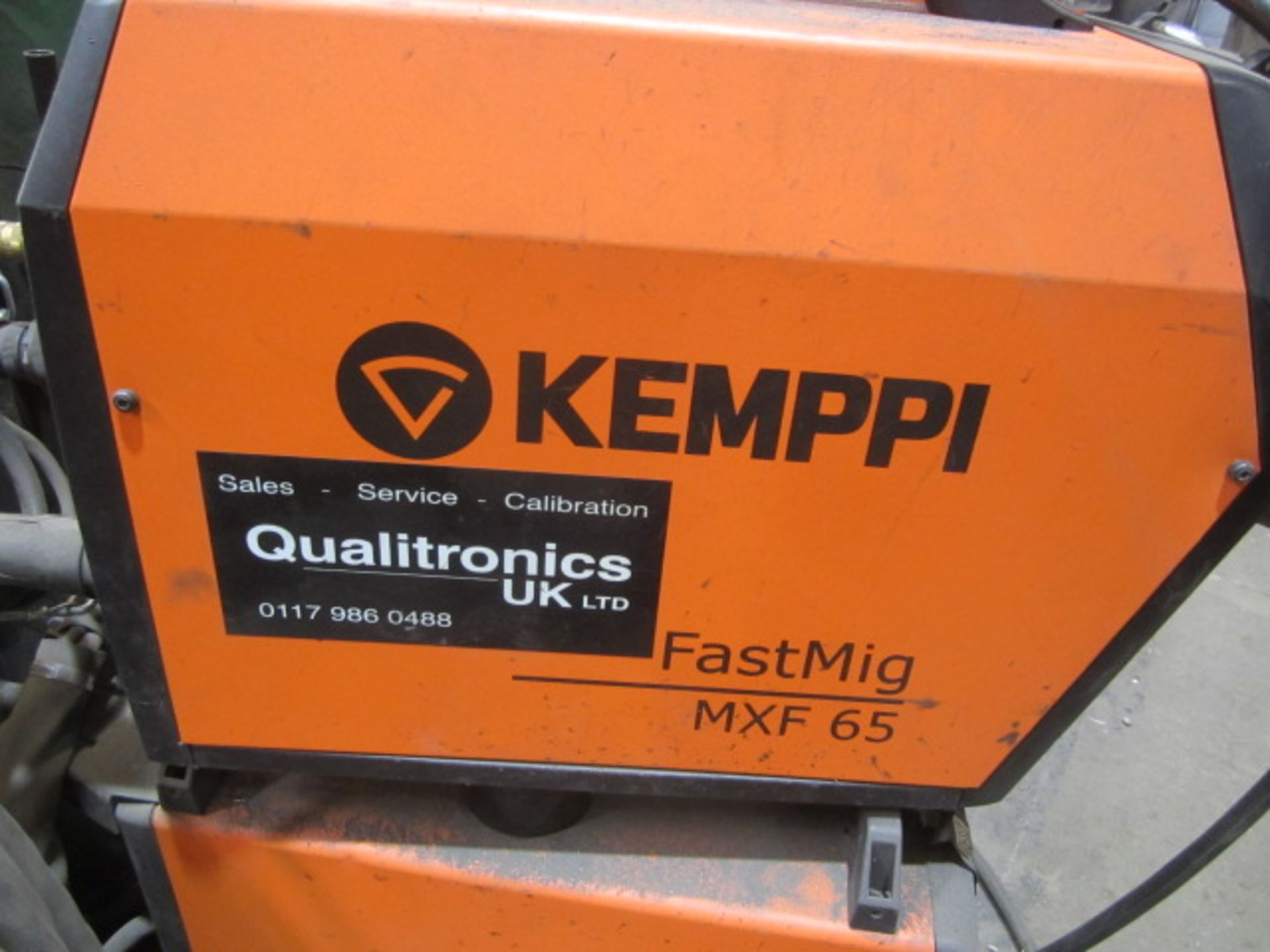 Kemppi Fast Mig M420 mig welder, serial no. 2674258, with Fast Mig MXF65 wire feeder, serial no. - Image 5 of 8