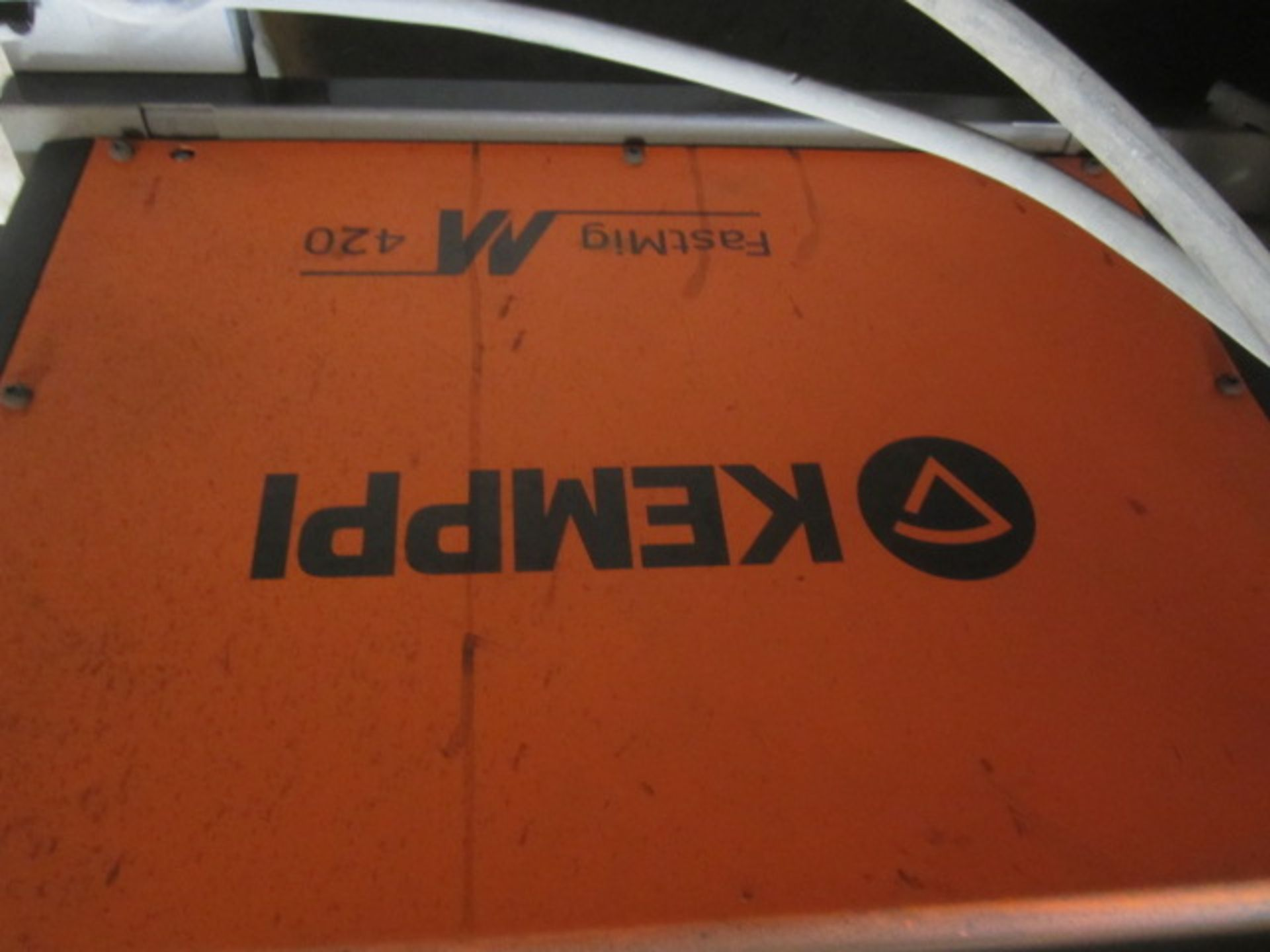Kemppi Fast Mig M420 mig welder, serial no. 2674175, with Fast Mig MXF65 wire feeder, serial no. - Image 5 of 7