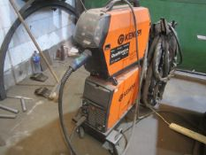 Kemppi Fast Mig M420 mig welder, serial no. 2674278, with Fast Mig MXF65 wire feeder, serial no.