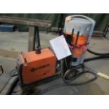 Kemppi Fast Mig M420 mig welder, serial no. 2673739, with Fast Mig MXF65 wire feeder, serial no.