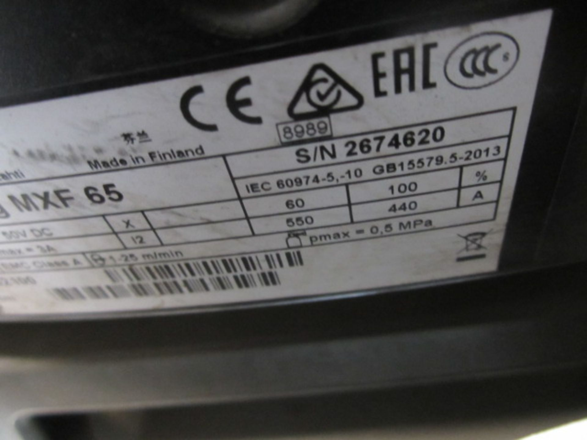 Kemppi Fast Mig M420 mig welder, serial no. 2674175, with Fast Mig MXF65 wire feeder, serial no. - Image 6 of 7