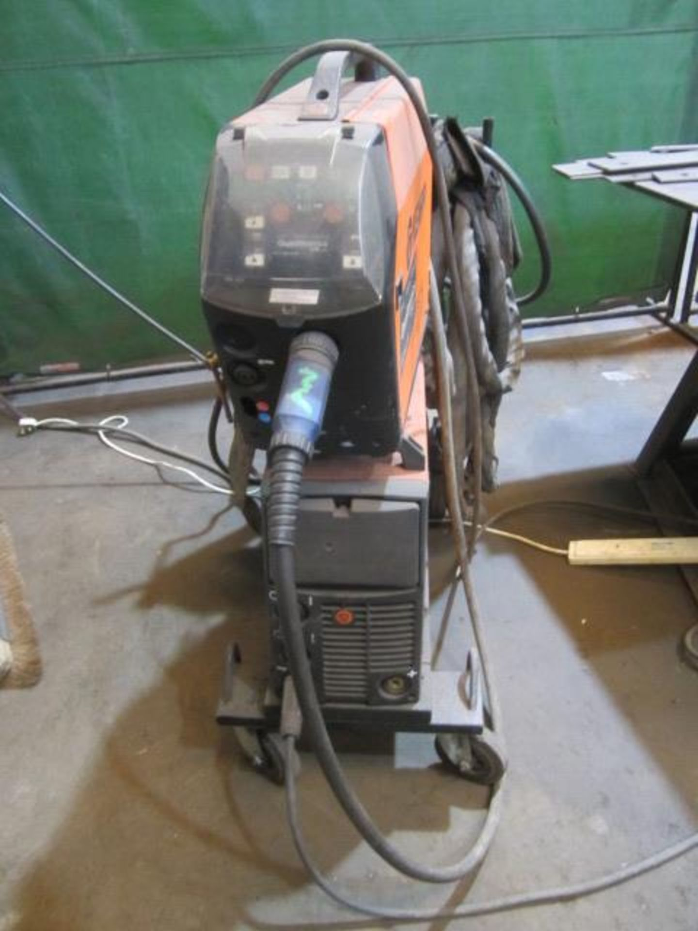 Kemppi Fast Mig M420 mig welder, serial no. 2674278, with Fast Mig MXF65 wire feeder, serial no. - Image 2 of 7