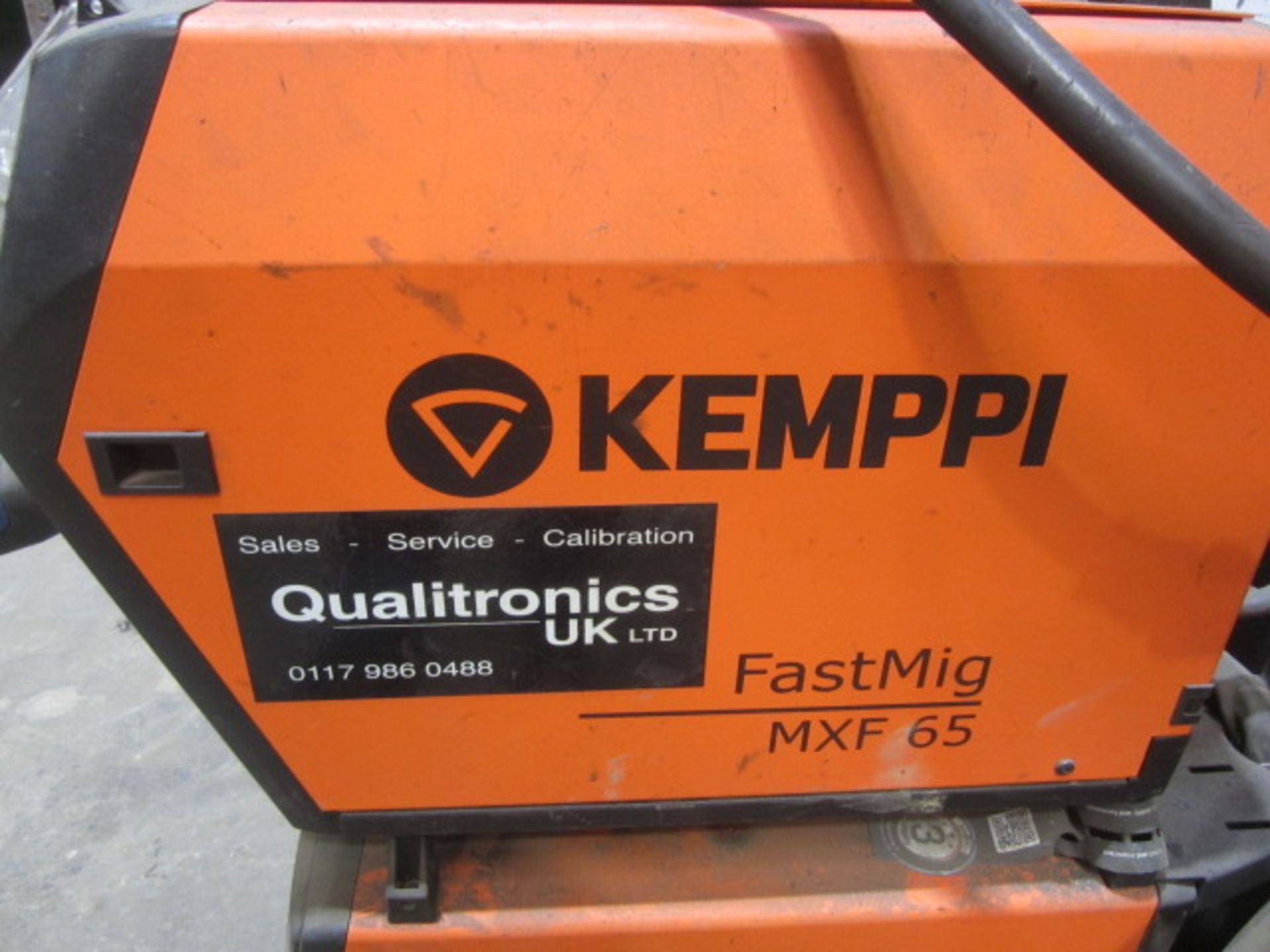 Kemppi Fast Mig M420 mig welder, serial no. 2694679, with Fast Mig MXF65 wire feeder, serial no. - Image 4 of 7