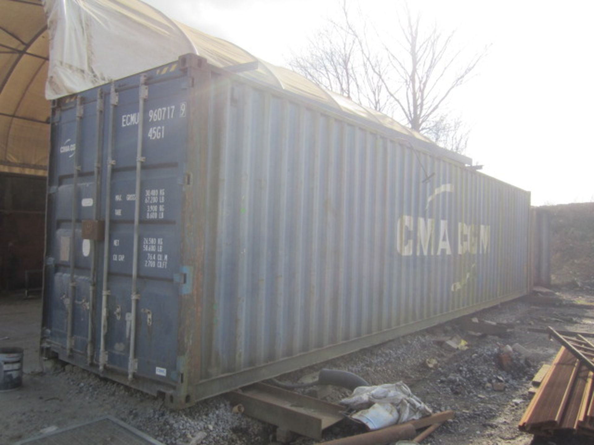 40ft export storage container, serial no. CIMC1532 2223 (2005) - Electrical disconnection required. - Image 2 of 4