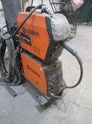 Kemppi Fast Mig M420 mig welder, serial no. 2694679, with Fast Mig MXF65 wire feeder, serial no.