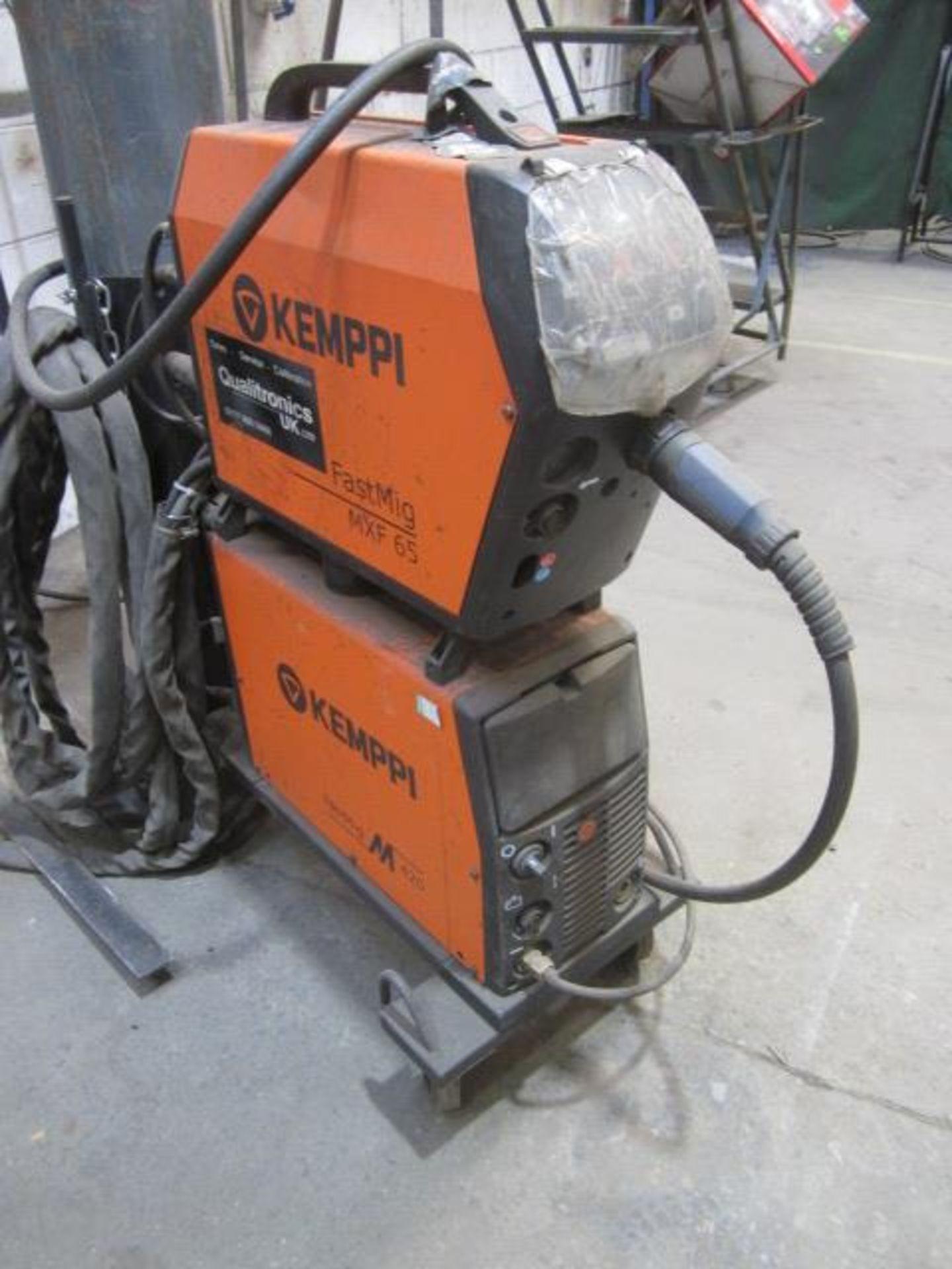Kemppi Fast Mig M420 mig welder, serial no. 2694679, with Fast Mig MXF65 wire feeder, serial no.