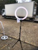 "Neewer Ring Light model RL-18"" tube lamp c/w Tripod no carry case"