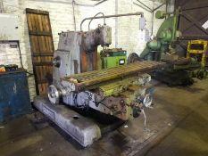 Cincinnati Milacron 420-16 Plain Cinedo horizontal milling machine with vertical head, Serial No: