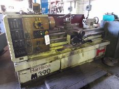 "Harrison M390 gap bed lathe, Serial No: G70012 (1994), 48"" between centres, 9"" swing over bed with 4"