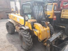 JCB Loadall 520-50 telehandler, Reg No: KX60GFT, recorded hours: 3,174, with fork attachment.