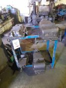 "4 Machine vices, max size 8.5"" min size 5"".(Please note: this lot is to be collected between"
