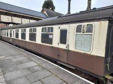 BR Mark 1 type TSO coach, no. E4472, 64-seats in Tram Museum brown/ orange moquette, 2 x WC's,