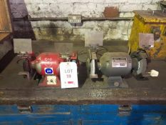 "2 x 240v 6"" bench grinders.(Please note: this lot is to be collected between Monday 17 May 2021"
