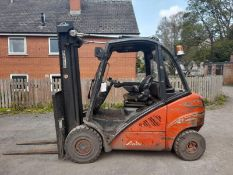 Linde H30D diesel driven counter balance fork lift truck, Serial No: H2X393W04635 (2007), max