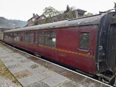 BR Mark 1 type CK coach, no. M15667, 48-seats in black and grey moquette, 1 x WC, maroon livery