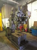 "Asquith 4-6 ODI radial arm drill, Serial No: 113018 with 36"" x 33"" T-slot box. (Please note: this"