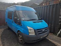 Ford Transit 330 MWB diesel TDCi 115ps medium roof van with windowed slide doors and 2 fitted