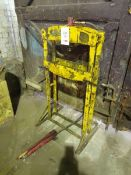 "22"" wide hydraulic bearing press with hydraulic pump unit. Please note: this lot is to be"
