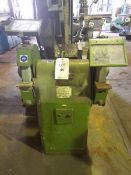 "Union 12"" double ended pedestal grinder (415V) with hydraulic lift/fall.(Please note: this lot is to"