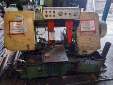 Pro Saw Mega Machine Co. Ltd BS-400SA horizontal metal cutting bandsaw, Serial No: 950542 (1996).(