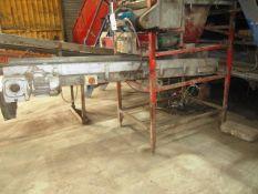 Herbert 3.8 x 600 00N belt conveyor and bespoke stone and clod separator, s/n: 104-01-128, approx.