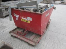 """Tong Peal forklift tipping skip, 42"""" x 64"""""""