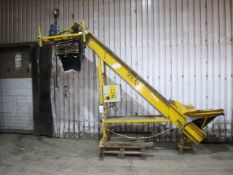 Peal inclined belt elevator single bagging machine on stand with pendant controls and adjustable