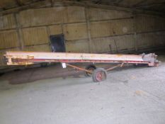 Mobile rubber belt potato elevator, approx. belt size: 350mm x 7m - for spares or repair