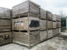 Thirty two various potato boxes - to include contents of soil, as lotted (Please Note: Purchaser