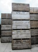 Fifteen various potato boxes, as lotted (Please Note: Purchaser will be required to provide us