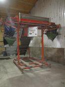 David Harrison inclined belt conveyor, s/n: 91094, approx. belt size: 800mm x 4m mounted on Downs