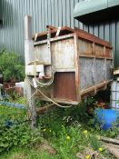 Potato box tipper with series 2000 control, approx. size 1.1m x 2m - for spares or repair (Please