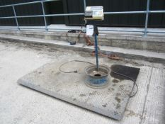 Platform weigh scales, 1.4m x 2m with Teroaka digital weigh system and print out, capacity 2000kg