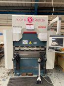 Durma AD-R 1260 hydraulic downstroke press brake. Capacity 1275 x 60 ton, Y.O.M 2018, s/n