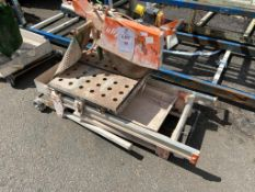 Clipper Norton CHW600 wet cut circular saw travelling bed on fold away stand. Y.O.M 2005