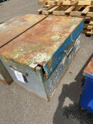 Steel site box (no key) 130cm x 65cm x 60cm, stiff hinge