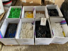 A quantity of various size plastic spacers and fillers 2x pallets