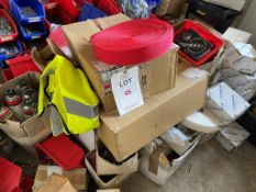 Contents of the room including various quantities of fixings, screws, rivets, adhesives and