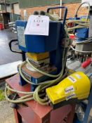 Schuco pneumatic press, art no. 290124, 80kg capacity Y.O.M 1995, s/n 792-0125 with foot pedal