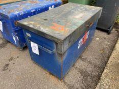 Steel site box on wheels (no key) 125cm x 65cm x 60cm