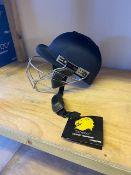Three Ganador Blitz cricket helmets size small -Navy Blue
