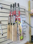 Four Ganador Shield Kashmir Willow adult size 6 short handle cricket Bats
