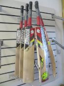 Five Ganador Shield Kashmir Willow adult size 6 short handle cricket Bats