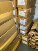 One Hundred various Kashmir Willow indoor cricket bats c/w carry case size 6 BOXED