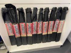 Ten Century Gold Kashmir Willow indoor cricket bats c/w carry case size 6