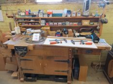 Workbench c/w contents & vice